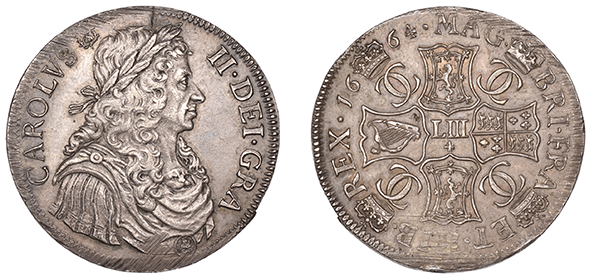 British, 1664 Charles II Scottish 4 Merks