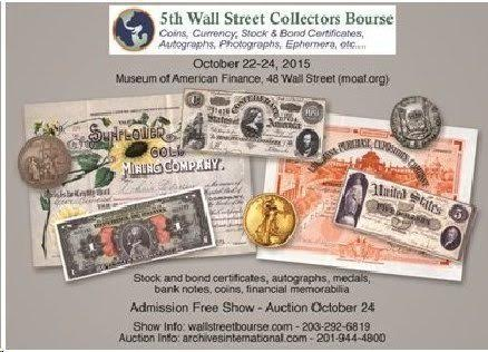 5th Annual Wall Street Collectors Bourse flyer