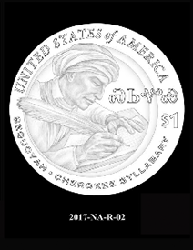 2017 Native American $1 coin, design candidate 2