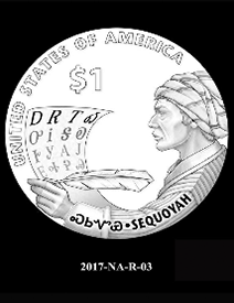 2017 Native American $1 coin, design candidate 3
