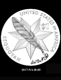2017 Native American $1 coin, design candidate 5