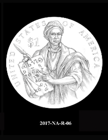 2017 Native American $1 coin, design candidate 6