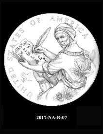 2017 Native American $1 coin, design candidate 7