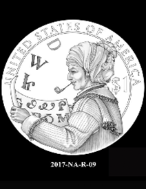 2017 Native American $1 coin, design candidate 9