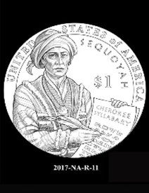 2017 Native American $1 coin, design candidate 11