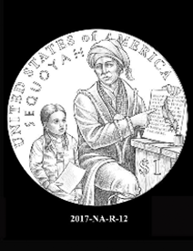 2017 Native American $1 coin, design candidate 12