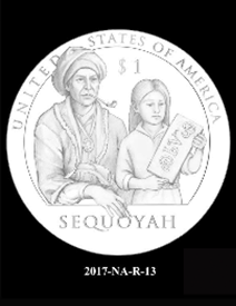 2017 Native American $1 coin, design candidate 13