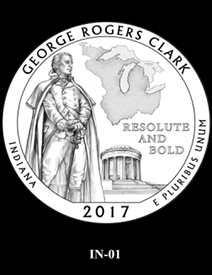 2017 America the Beautiful Quarters George Rogers Clark National Historical Park design candidate 1