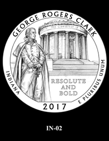 2017 America the Beautiful Quarters George Rogers Clark National Historical Park design candidate 2