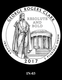 2017 America the Beautiful Quarters George Rogers Clark National Historical Park design candidate 3