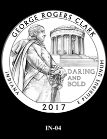 2017 America the Beautiful Quarters George Rogers Clark National Historical Park design candidate 4