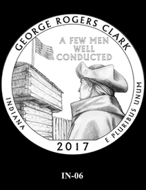 2017 America the Beautiful Quarters George Rogers Clark National Historical Park design candidate 6