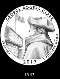 2017 America the Beautiful Quarters George Rogers Clark National Historical Park design candidate 7