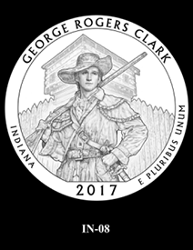 2017 America the Beautiful Quarters George Rogers Clark National Historical Park design candidate 8