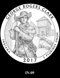 2017 America the Beautiful Quarters George Rogers Clark National Historical Park design candidate 9