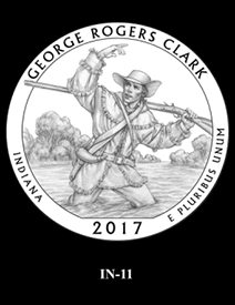 2017 America the Beautiful Quarters George Rogers Clark National Historical Park design candidate 11