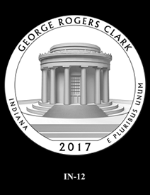 2017 America the Beautiful Quarters George Rogers Clark National Historical Park design candidate 12