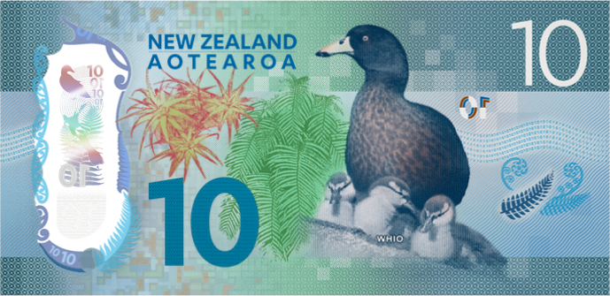 New Zealand Series 7 $10 bank note reverse