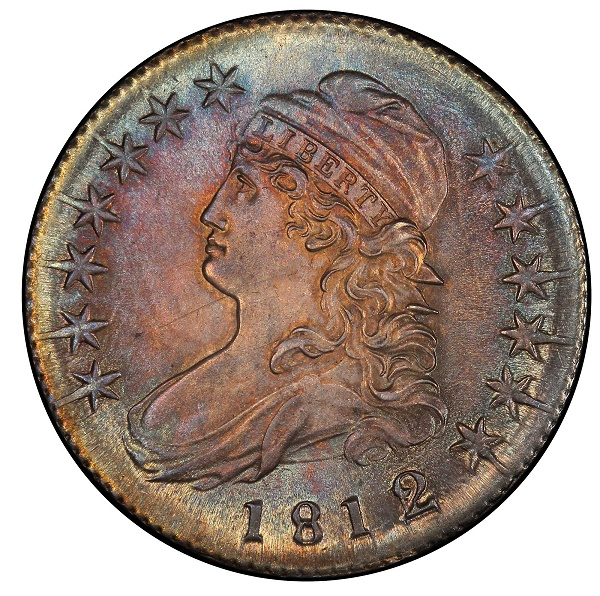 812/1 Capped Bust Half Dollar. Overton-102