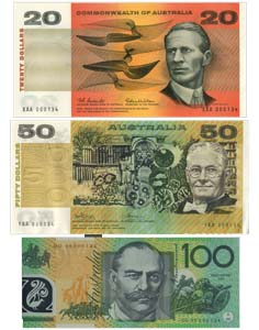 Reserve Bank of Australia Banknote Presentation Sets, Courtesy Spink