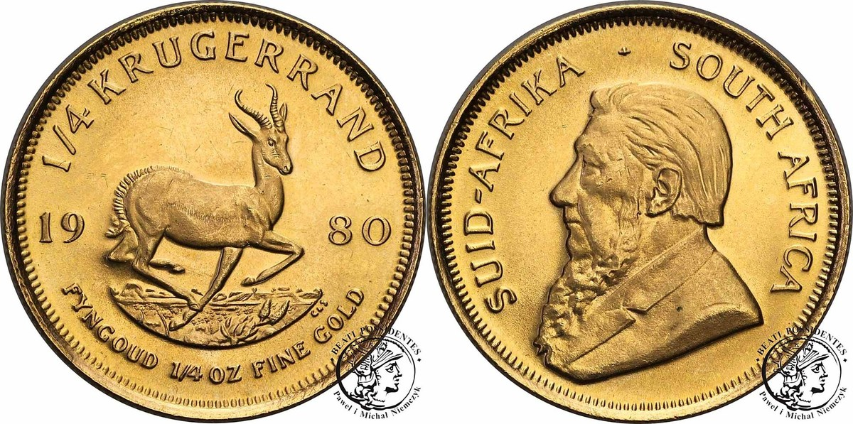 Republic of South Africa 1/4 Krugerrand 1980 c.1