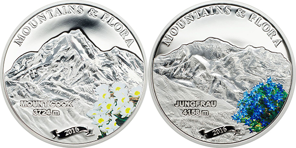 Coin Invest Trust, Mountains & Flora. Mayer Mint for Cook Islands