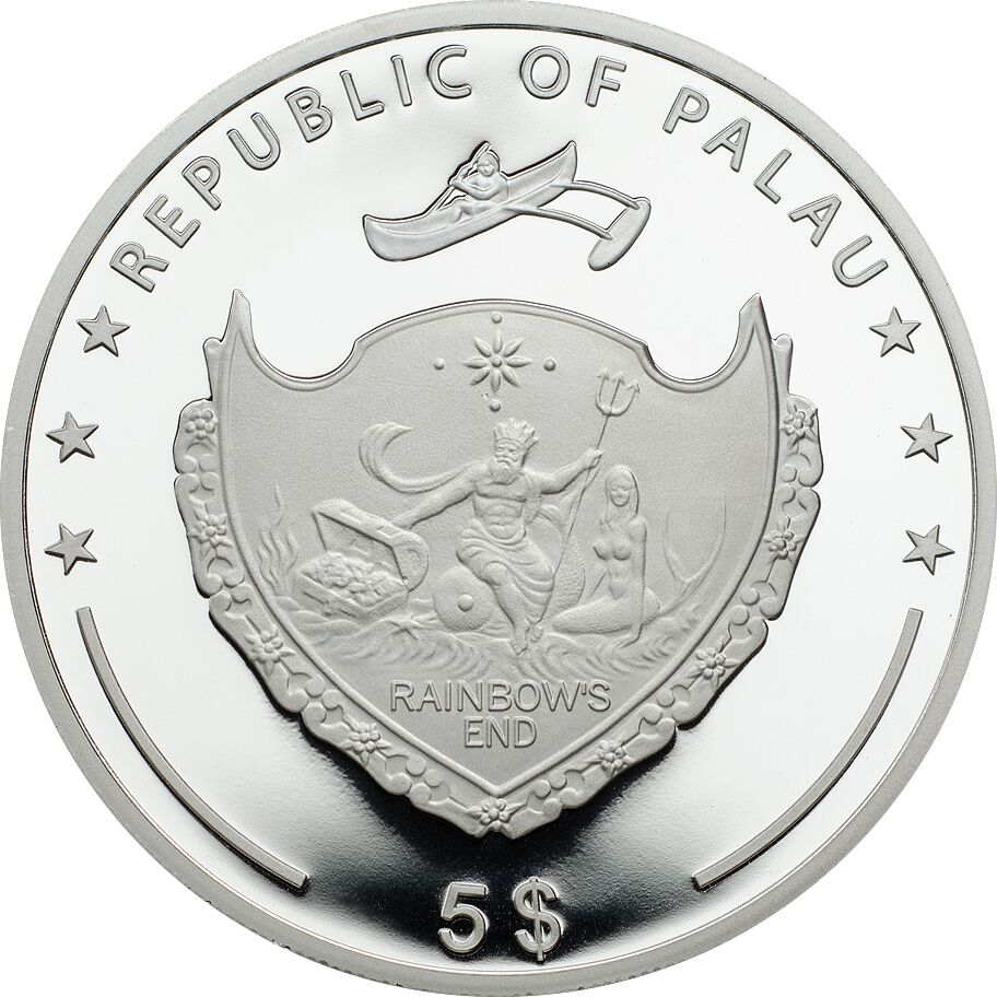 Coin Invest Trust $5 Silver coin, Palau obverse