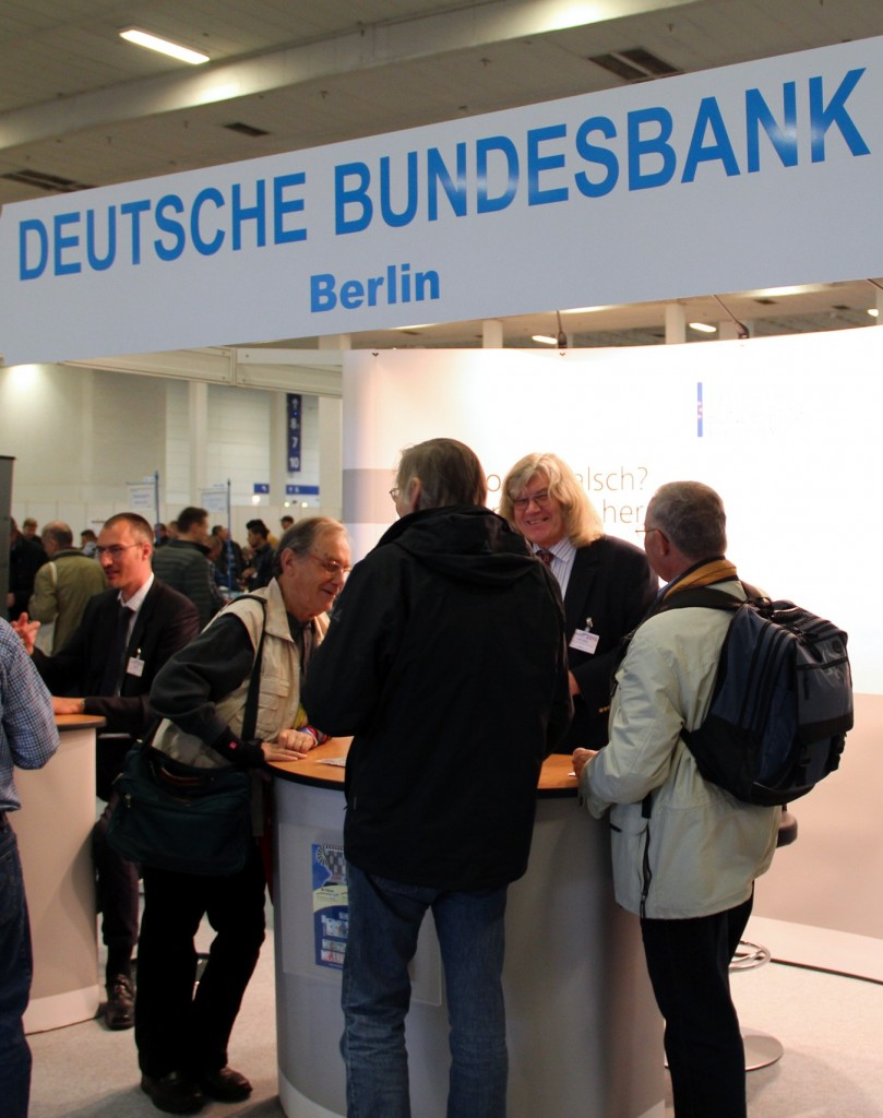 German Bundesbank (German Federal Bank) booth, 17th NUMISMATA Berlin, 2015
