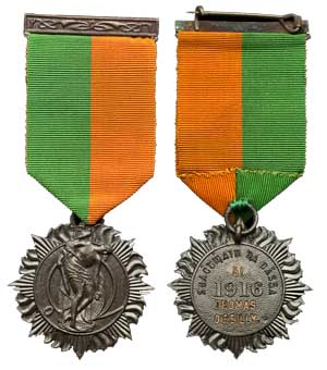 Irish 1916 medal, Thomas O'Reilly. Courtesy Spink and Son Ltd.