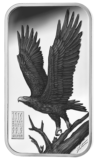 2016 Australian Gold & Silver Exchange Apex Predators Series - Wedge-tailed eagle, reverse