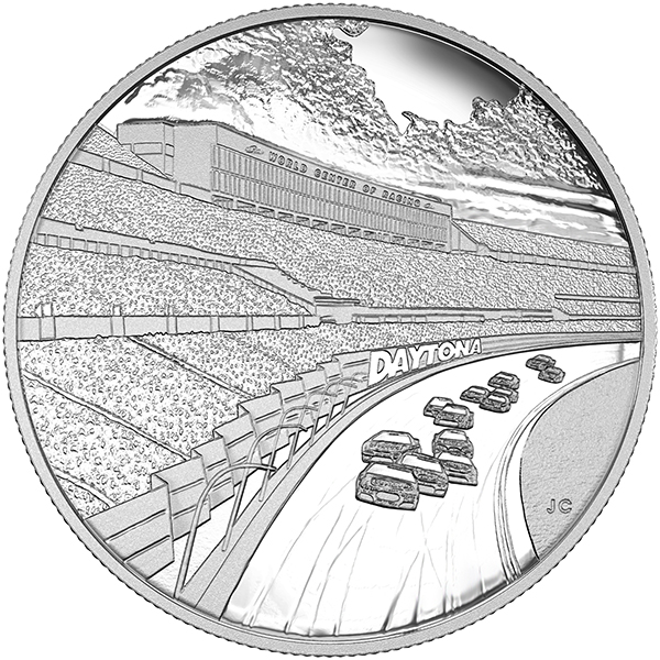 Obverse, Canada 2016 Daytona International Speedway Silver Medallion, Royal Canadian Mint