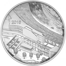 Reverse, Canada 2016 Daytona International Speedway Silver Medallion, Royal Canadian Mint