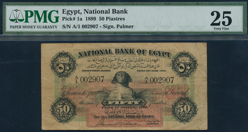 National Bank of Egypt, 50 piastres banknote, 1 January 1899