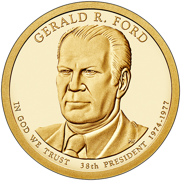 United States Mint 2016 Gerald R. Ford Presidential $1 Coin, obverse