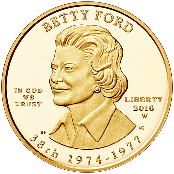 United States 2016 Betty Ford First Spouse $10 Gold Coin