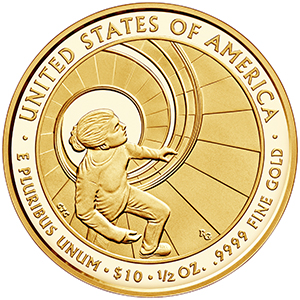reverse, United States 2016 Betty Ford First Spouse $10 Gold Coin