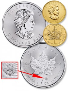 Canadian Silver & Gold Maple Leafs