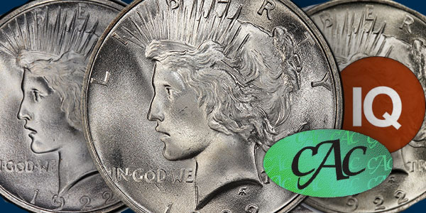 CoinWeek IQ - Analysis of Type Peace Dollar CAC-Certified Prices