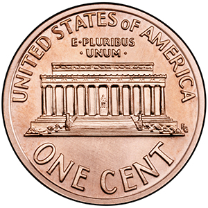 United States Mint - Lincoln cent Lincoln Memorial reverse