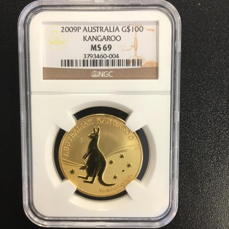 Counterfeit 1oz Gold Australian Kangaroo in NGC Holder