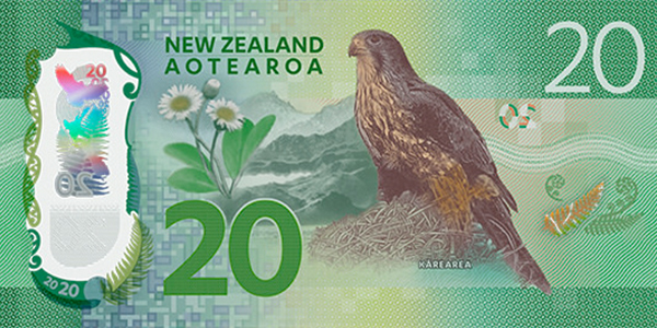 reverse, New Zealand 2016 Series 7 $20 banknote