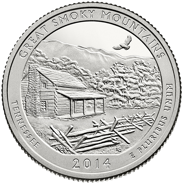 United States 2014 America the Beautiful Great Smoky Mountains National Park Quarter