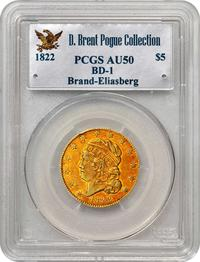 Brand-Eliasberg-Pogue 1822 Half Eagle, courtesy PCGS