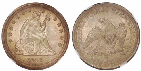Lot 267: 1840-O Seated Liberty Quarter Dollar