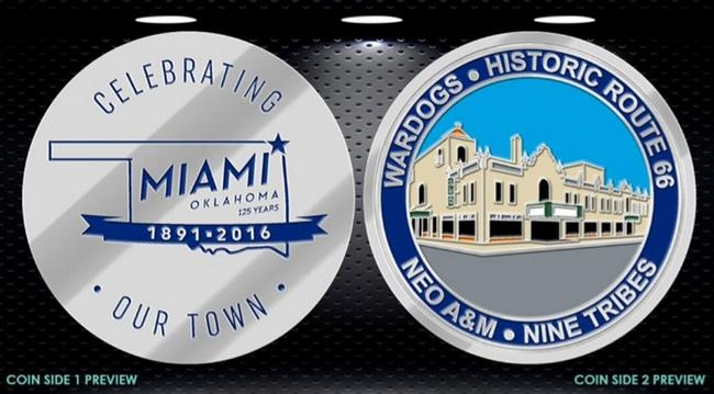Miami, OK 125th Anniversary Coin
