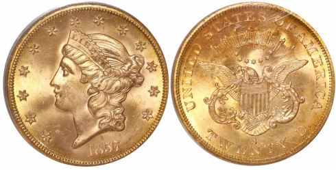 SS Central America gold Liberty Head $20 double eagle, Lot 239, Sedwick Treasure Auction #19