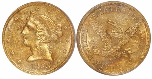 SS Central America gold Liberty Head $20 double eagle, Lot 243, Sedwick Treasure Auction #19