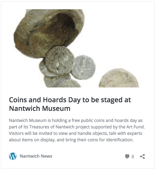 Coin and Hoards Day at Nantwich Museum