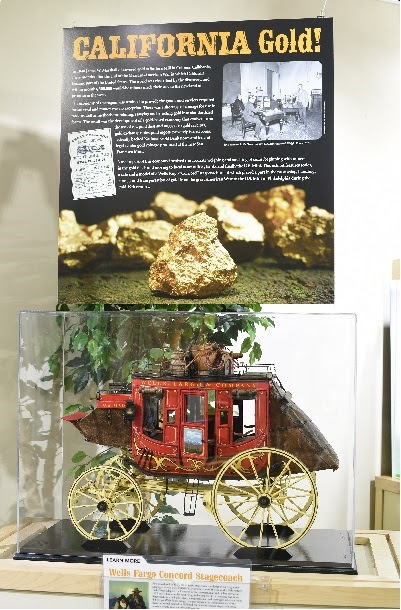 Model of a Wells Fargo Concord Stagecoach, courtesy of the ANA Money Museum