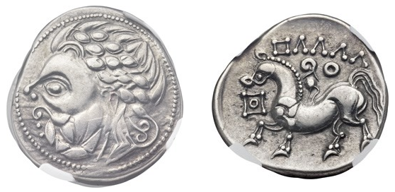Celtic Zickzackgruppe coin, courtesy Heritage Auctions